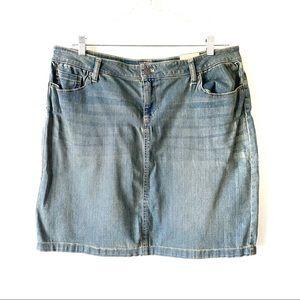 NWT Bass Denim Mini Skirt Plus Size 14 & 16